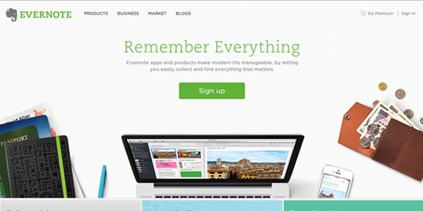 Evernote's call to action grabs your attention with a clear message the viewer can relate to
