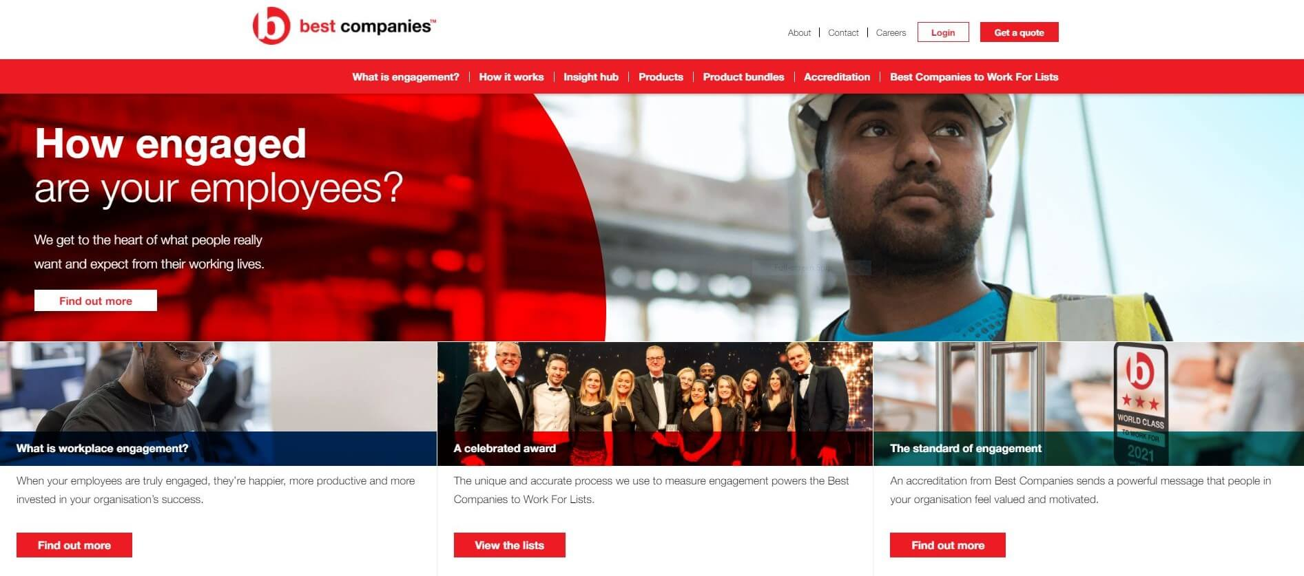 Best Companies Homepage Capture