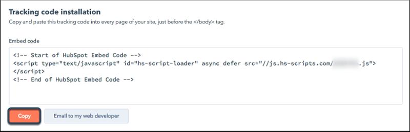 HubSpot-tracking-code