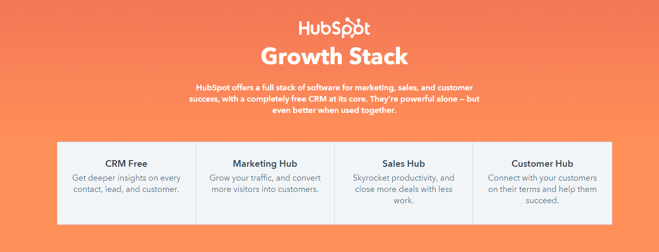 Example of micro-interactions used on HubSpot's website
