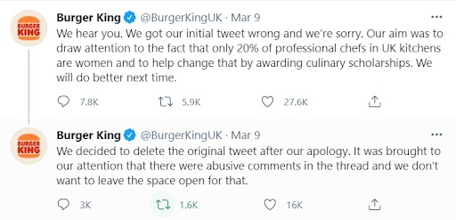 Burger King Apology