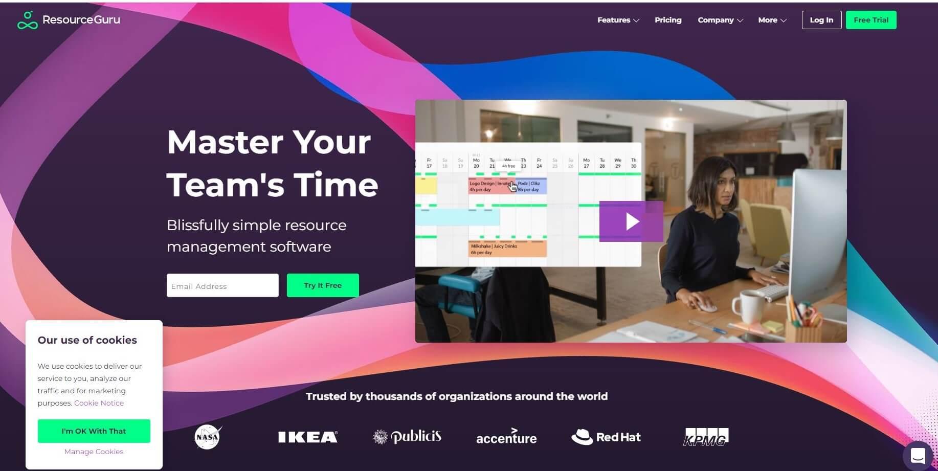 Resource Guru App Homepage Capture