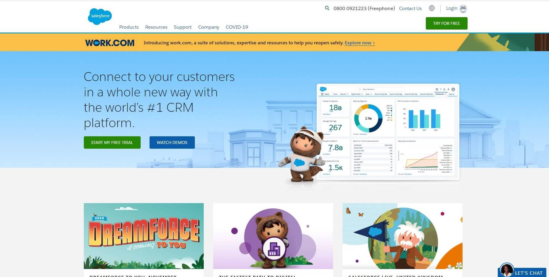 Salesforce Homepage Capture