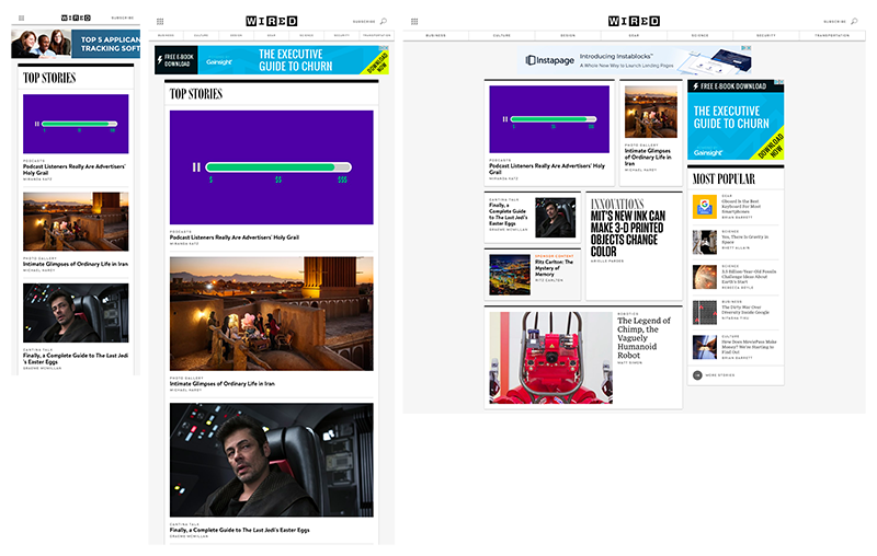 Example of responsive web design on Wired.com