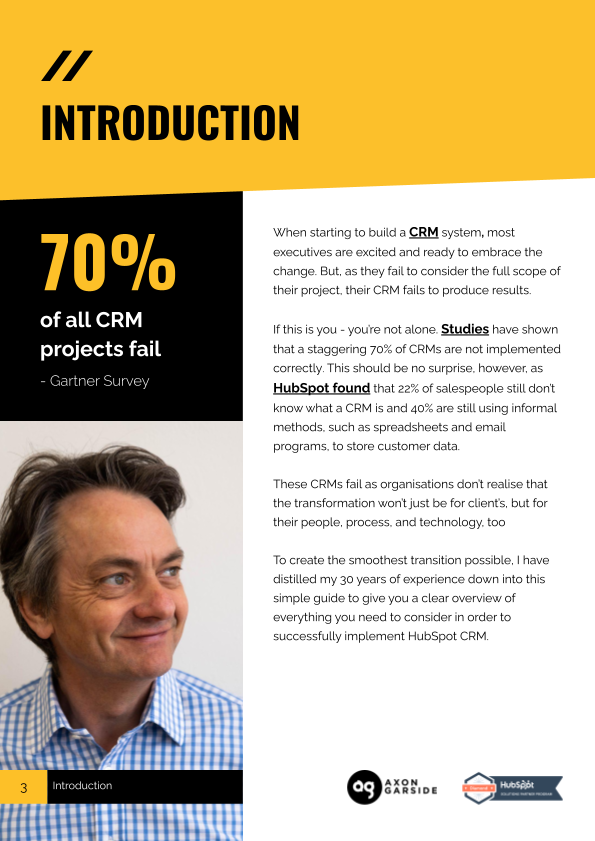 2021-04-Axon Garside - THE 5 STAGES OF A SUCCESSFUL CRM IMPLEMENTATION-Yellow