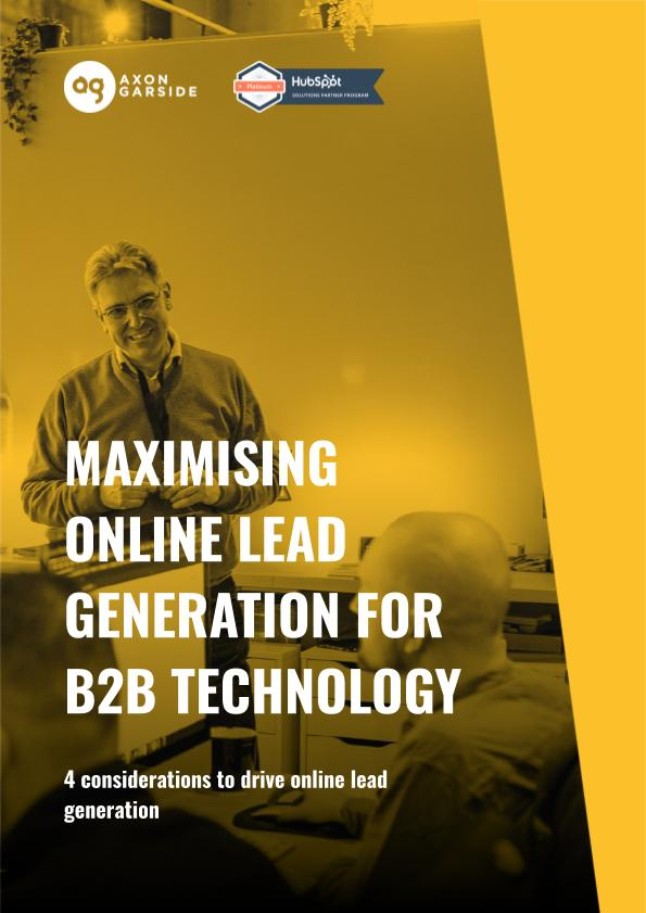 2020 - 06 - Axon Garside - Maximising Online Lead Generation for a B2B Technology Audience