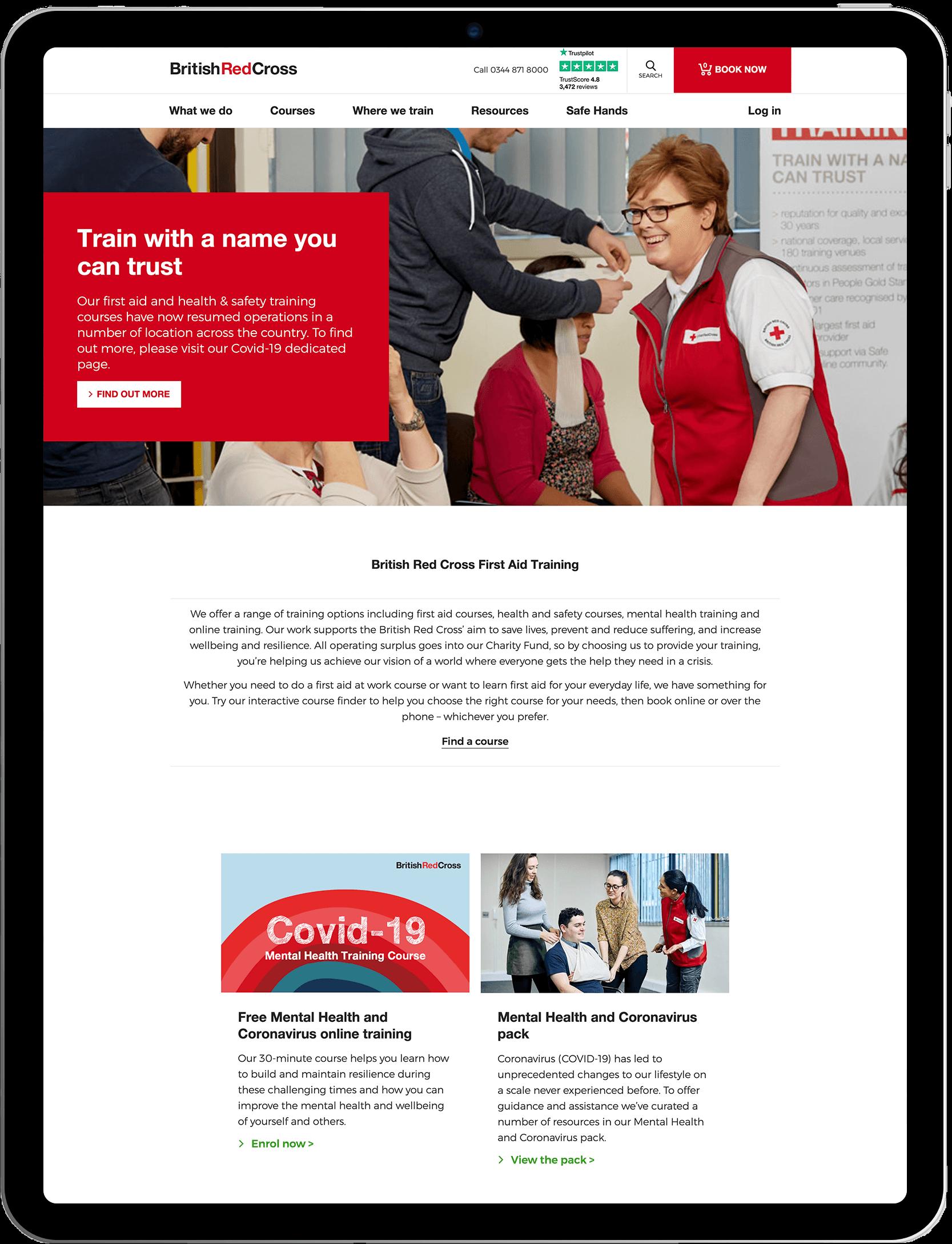 Red cross Blog — iPad Mockup
