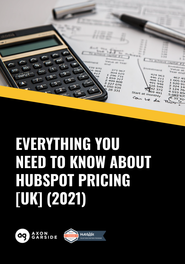 Everything you need to know about HubSpot Pricing in UK 2021, eBook cover