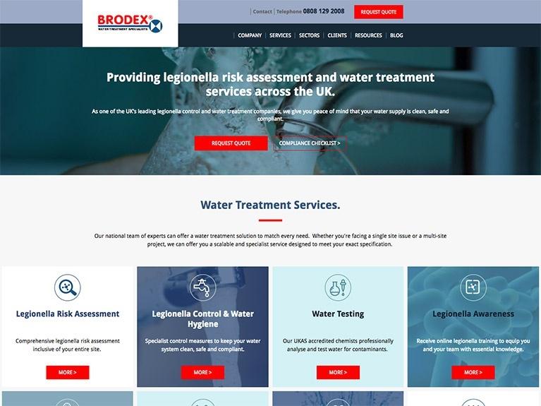 B2B website design for Brodex