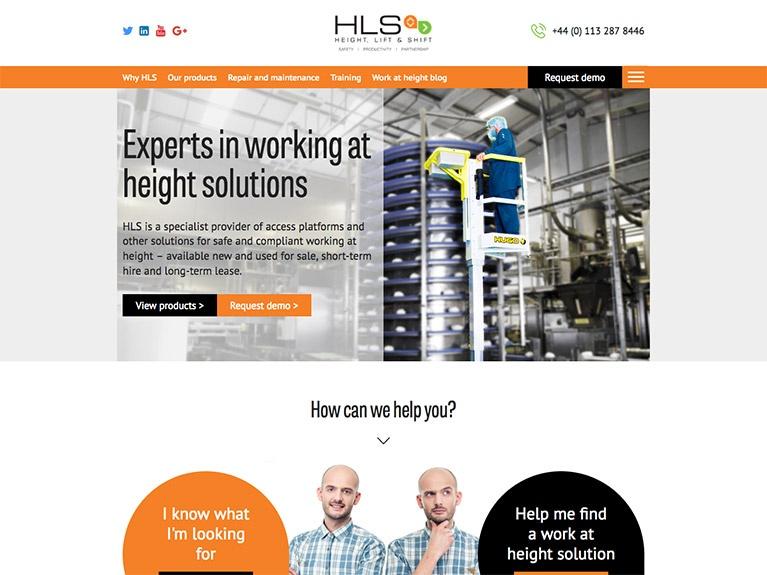 B2B website design for HLS