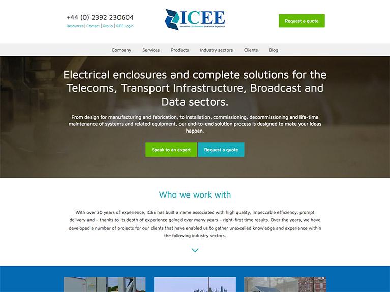 B2B website design for ICEE