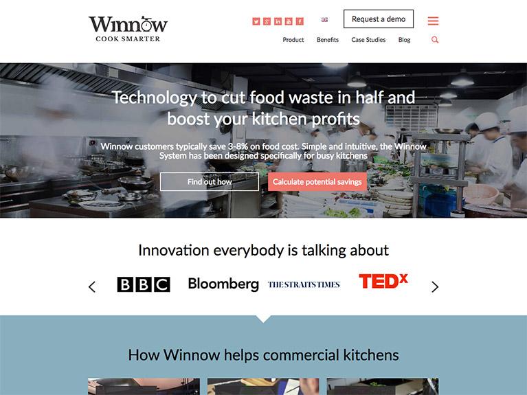 B2B website design for Winnow