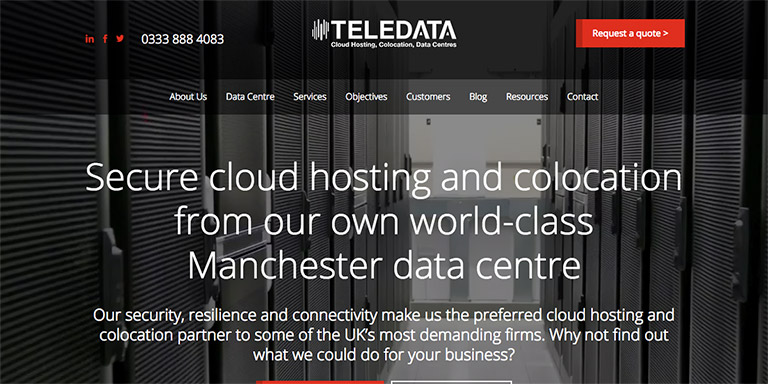 HubSpot COS site for Teledata