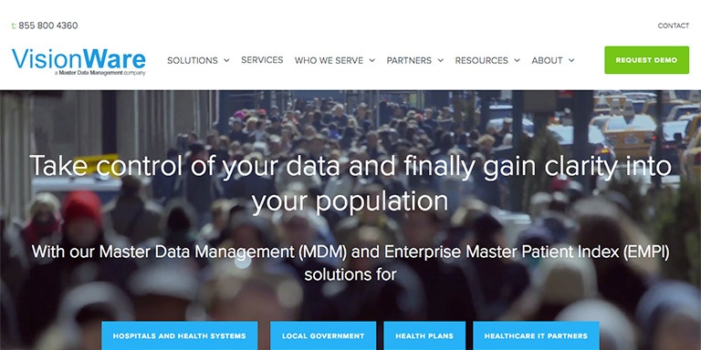 HubSpot COS site for VisionWare